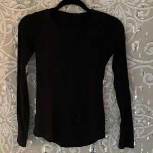 lululemon athletica Tops - LULULEMON Black Long Sleeve Shirt Sz 2
